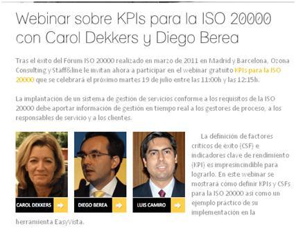"""<!--:es-->""""KPIS para la ISO 20000"""", Webinar con Carol Dekkers<!--:-->"""