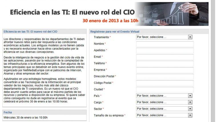 """Interxion participa en el evento online """"Eficiencia en las TI: El nuevo rol del CIO"""""""