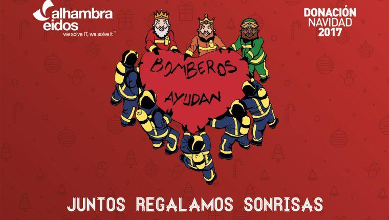 Alhambra-Eidos colabora con Bomberos Ayudan para que los más peques disfruten de una feliz Navidad