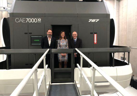 CAE inaugura junto a Air Europa un simulador de vuelo B787 DREAMLINER Full Flight en Madrid