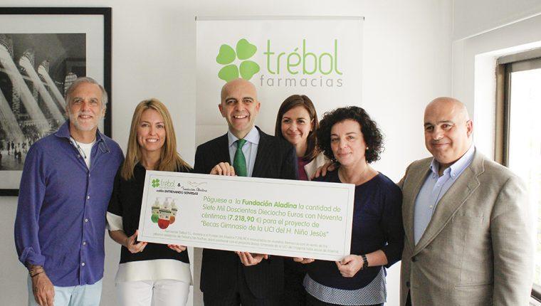 Farmacias Trébol colabora con la Fundación Aladina en su programa de becas deportivas